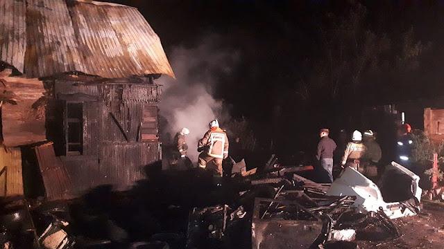 Ночью в пожаре погибли 4 человека