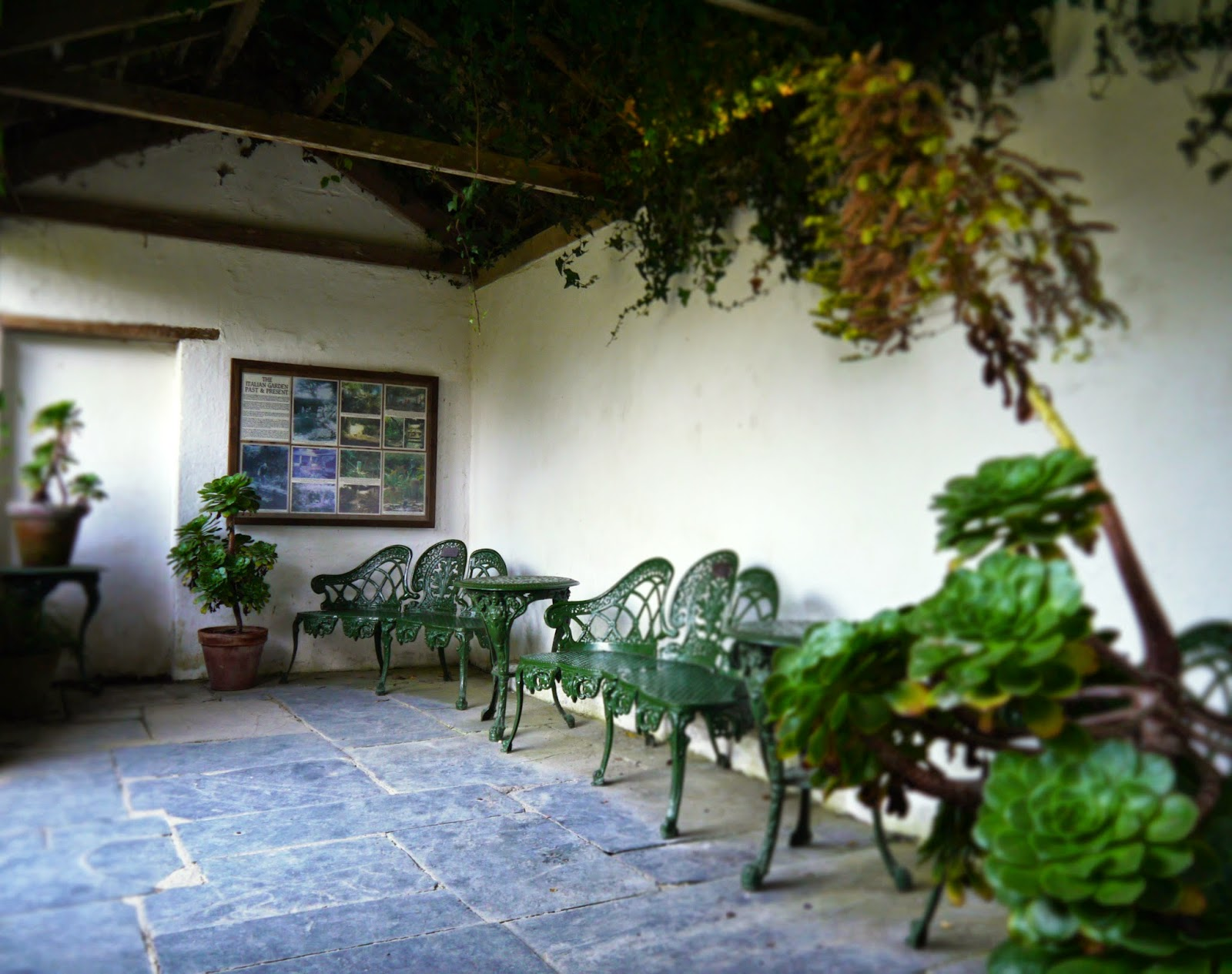 The Lost Gardens of Heligan, Cornwall - Italian patio