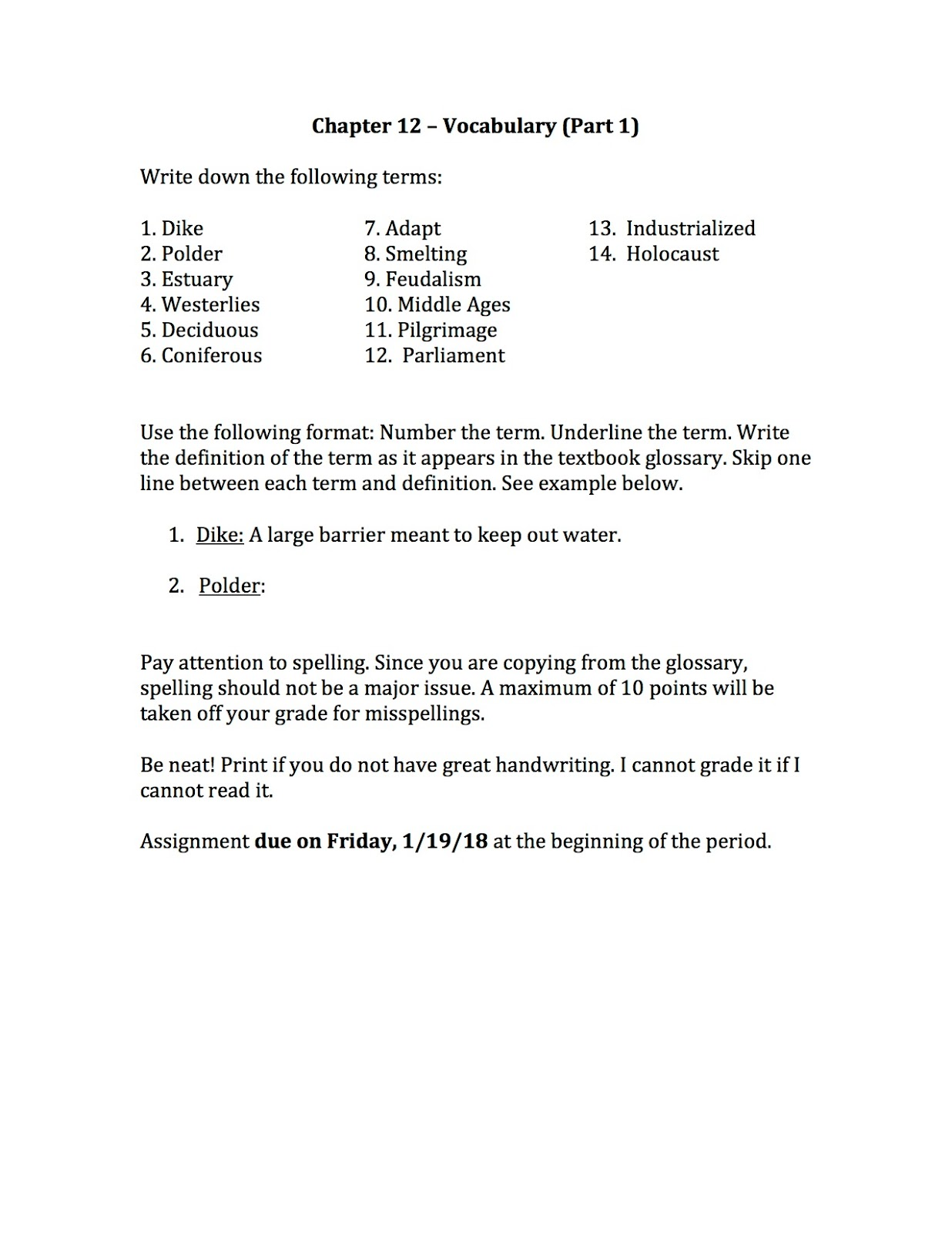 Worksheets Vocabulary Builder Worksheets ehms world cultures geography chapter 12 vocabulary and yesterday the kids were assigned standard assignment attached below it is due at beginning of class period to