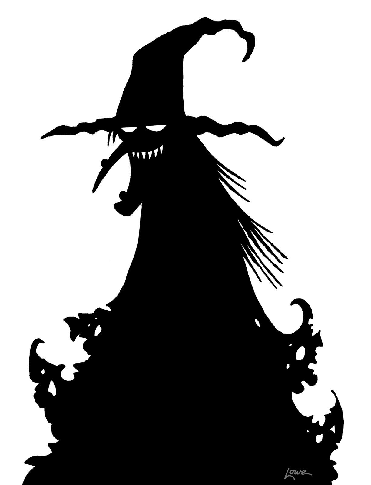 printable halloween window silhouettes