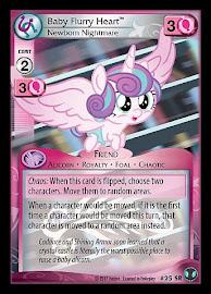 My Little Pony Baby Flurry Heart, Newborn Nightmare Defenders of Equestria CCG Card