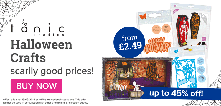 Tonic Halloween crafts from £2.49!!