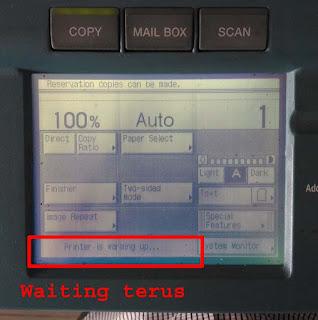 mesin fotocopy tidak mau ready