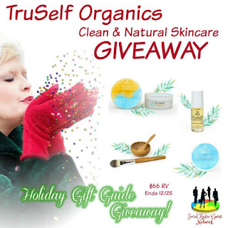 Enter the TruSelf Organics Clean and Natural Skincare Giveaway. Ends 12/25