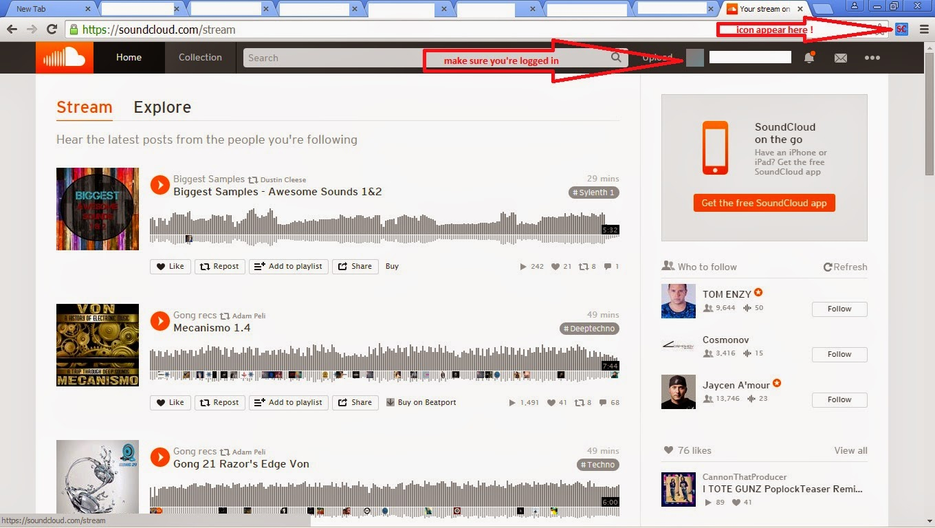 Soundcloud Unfollower - chrome extension | Freak Angelz