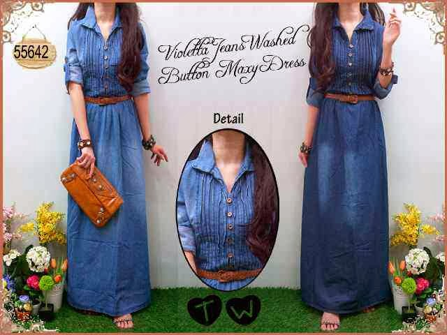 bahan jeans washed fit to XL