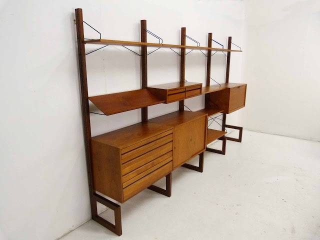 Poul Cadovius for Cado Free Standing Danish ModernTeak Wall Unit 3