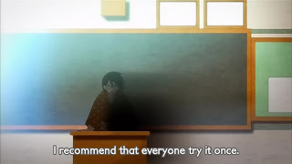 An image of the sensei being depressing in the anime