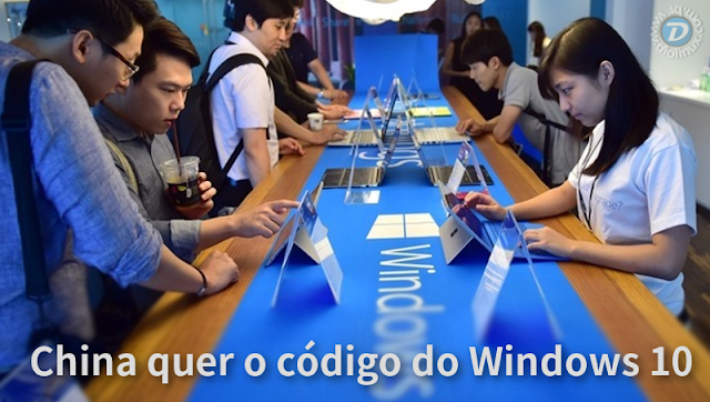 China quer o código fonte do Windows 10