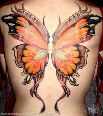 Free Lower Back Tattoos Butterfly