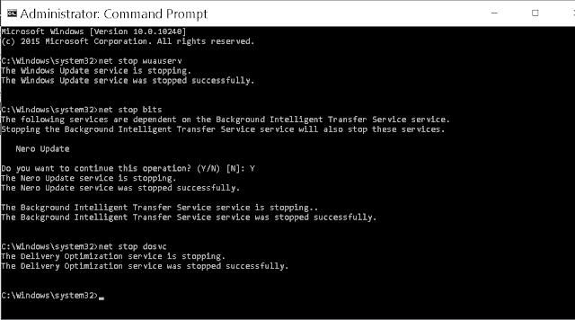 Mendisable otomatis update dengan cmd