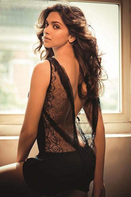 Deepika Padukone Hot Deep cleavage and Red lips