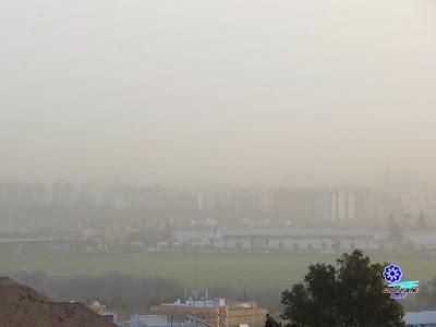 Sevilla - Contaminación por polvo sahariano