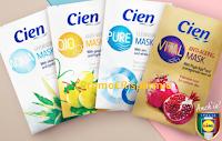Logo Commenta e vinci gratis 20 kit maschere viso Cien