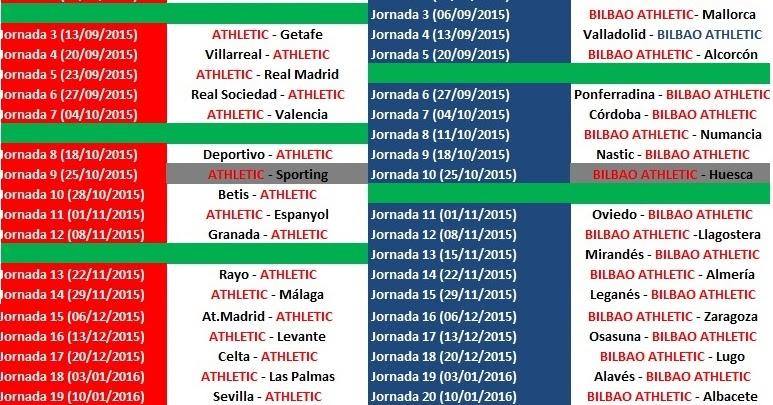 Athletic Bilbao Calendario.Noticias De San Mames Calendario Del Athletic Club Y Bilbao