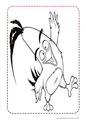 Colorear chuck de angry birds la pelicula
