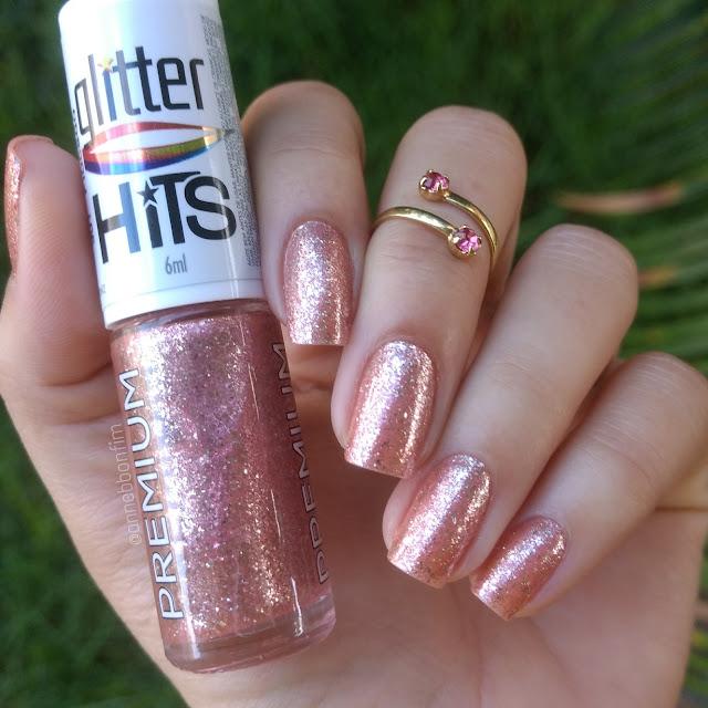 Coleção Glitter Flocado 6 Esmaltes