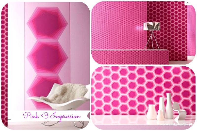 różowa geometria