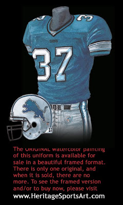 Detroit Lions 2003 uniform