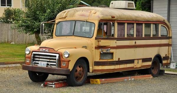 Restoration Project Cars: 1954 GMC School Bus Project