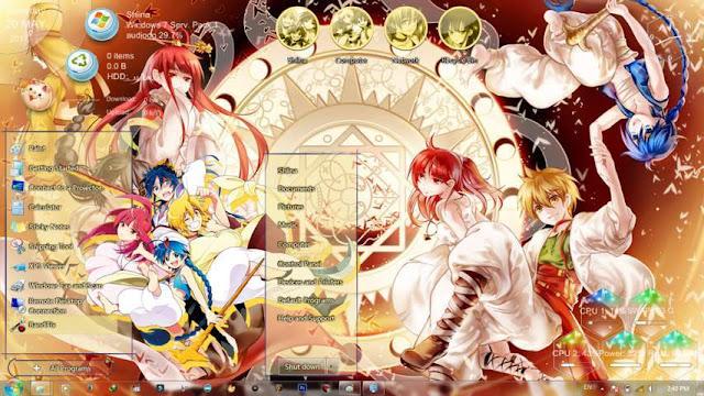 Magi: The Labyrinth of Magic Theme Win 7 by Bashkara