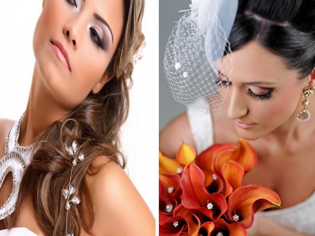 Maquiagem colorida para noivas