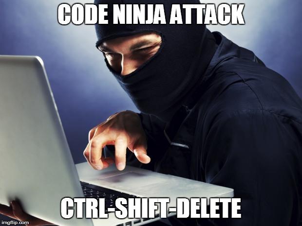 ctrl-shift-delete