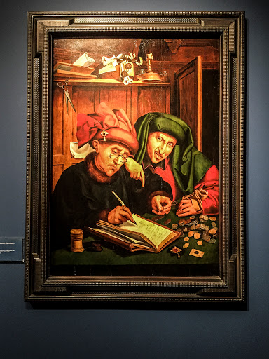 The Money Lenders - Quinten Massys 1466 - Grohmann Museum