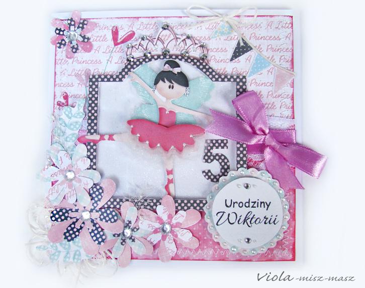 kartka urodzinowa dla małej księżniczki