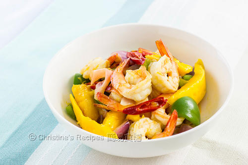 Stir Fried Prawns with Mango02