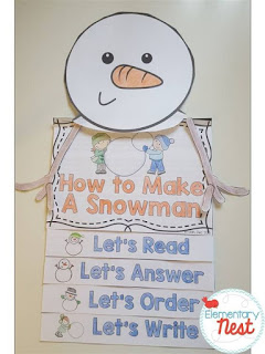 How to build a Snowman flip book plus a few winter FREEBIES- blog post highlighting hands-on activities for kids
