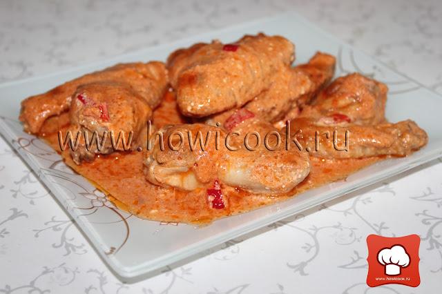 рецепт курицы в сметане