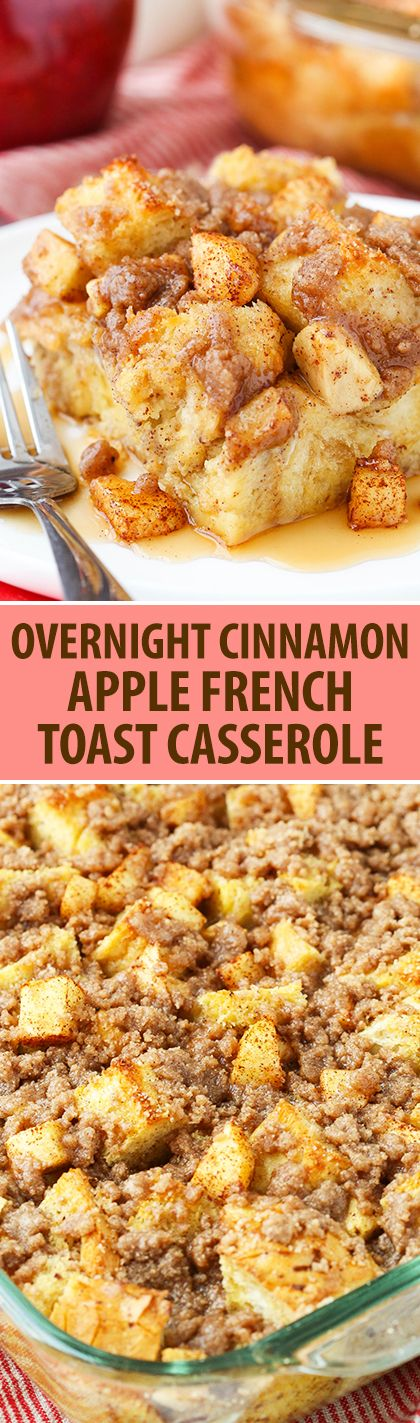 ★★★★☆ 3745 ratings | OVERNIGHT CINNAMON APPLE BAKED FRENCH TOAST CASSEROLE #OVERNIGHT #CINNAMON #APPLE #BAKED #FRENCH #TOAST #CASSEROLE