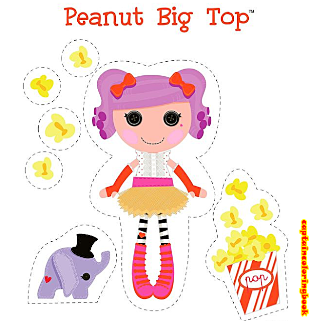 Lalaloopsy Coloring Pages Pdf : Lalaloopsy paper dolls printable coloring page