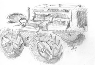 art sketch pencil graphite tractor eimco powerhorse old