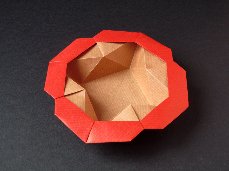 Origami Scatola Stella-fiore, variante - Flower-star box, variant, Francesco Guarnieri