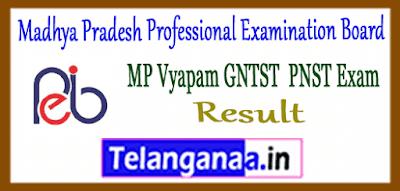 Madhya Pradesh VYAPAM GNTST PNST Result 2019 Cut Off Marks Merit List