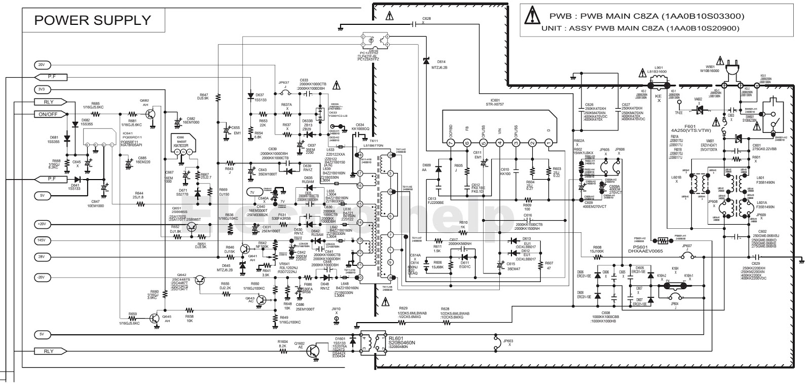 crt tv power diagram wiring diagram detailed crt schematic diagram crt tv wiring diagram [ 1600 x 757 Pixel ]