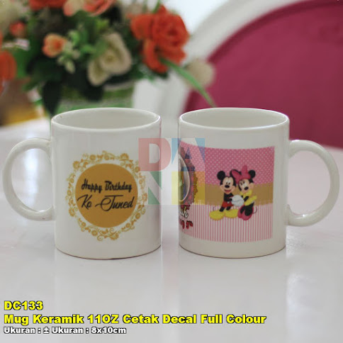 Mug Keramik 11OZ Cetak Decal Full Colour