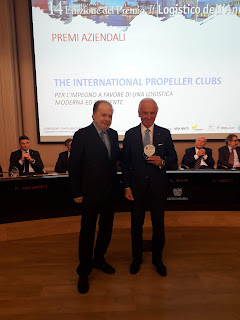 "The International Propeller Clubs vince il premio ""Logistico dell'Anno"" 2018"