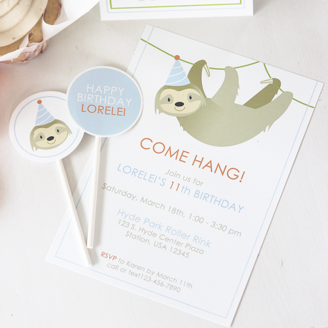 https://bushelandpeckpaper.com/products/sloth-party-invitations