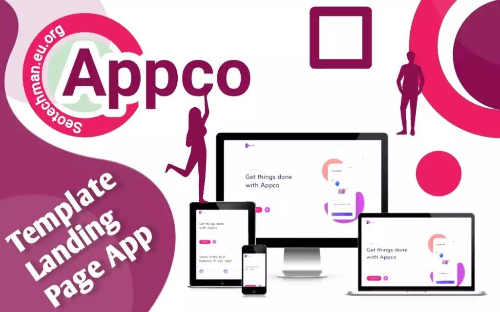 [Free Download] Appco - Responsif Template Web Aplikasi, Elegan dan Modern