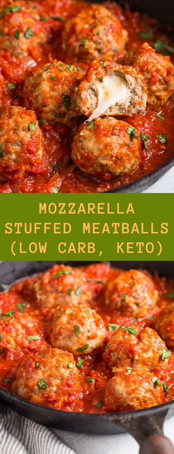 Mozzarella Stuffed Meatballs (low carb, keto)