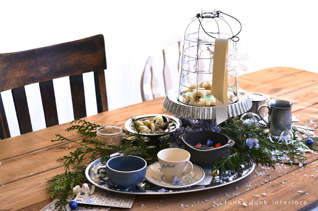 A party table for New Years via Funky Junk Interiors