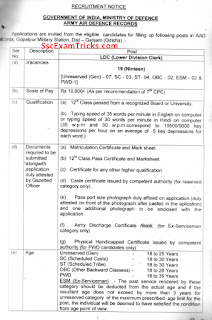 AAD Gopalpur LDC Recruitment