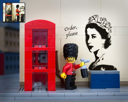 Banksy Pieces in LEGO | Jeff Friesen fotografiert Banksy Bricks aka Bricksy ( 12 Bilder )