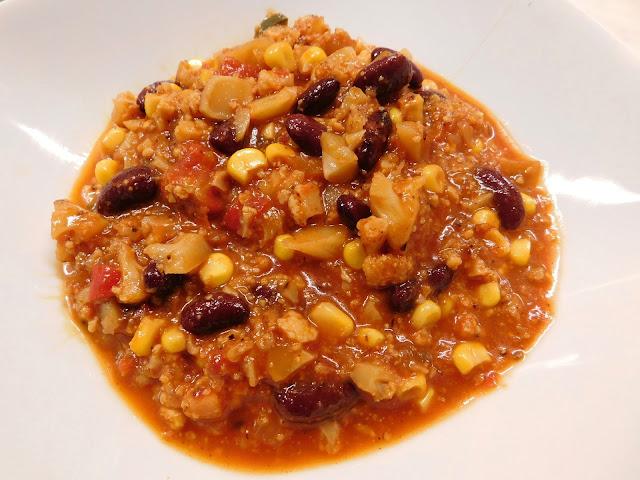 Chili con Carne vegan, Chili con CARNE Vegetarisch, Chili sin Carne, Chili con carne Blumenkohl, Bolognese Blumenkohl