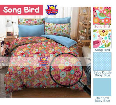 Sprei Dewasa Song Bird bahan cotton murah