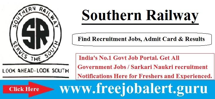 Southern Railway, SR Railway, Railway, Railway Act/Trades Apprentices Jobs, RRB Recruitment, Apprentice, Trades Apprentice, southern railway logo