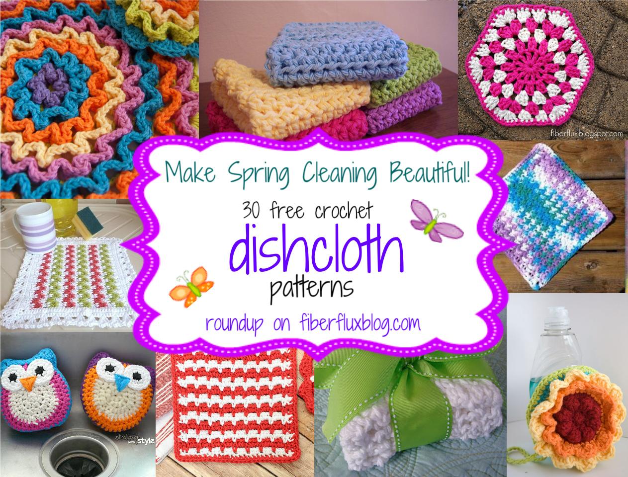 Fiber Flux 30 Free Crochet Dishcloth Patterns